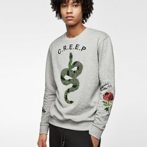 Zara beaded embroided sweater